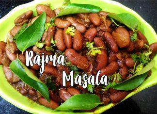 Rajma Masala, Red Kidney Beans Masala